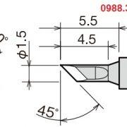 Mỏ hàn thiếc Goot RX-81HRT-1.5K , goot RX-81HRT Series